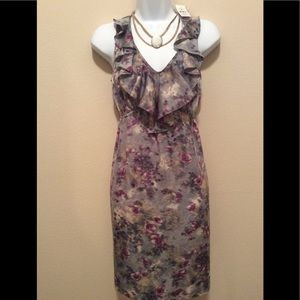 LOFT dress with ruffle detail. Great for summer!